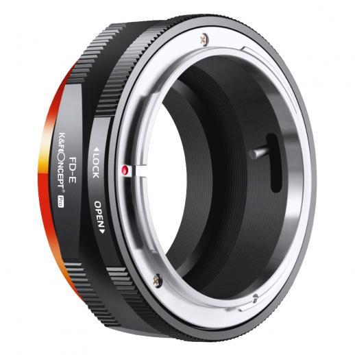 Novo produto: K&F M13105 Canon FD- NEX PRO , Novo no adaptador de lente de alta precisão 2020 (laranja)