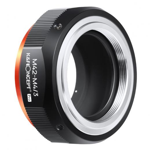 K&F M10125  M42-M4/3 PRO, New in 2020 high precision lens adapter (orange)