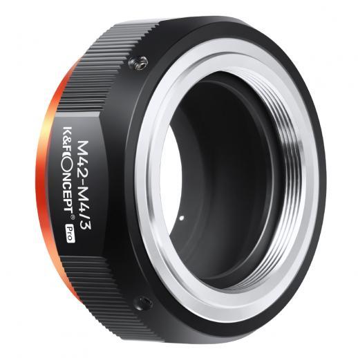 新製品:K&F M10125 M42-M4 / 3 PRO、2020年に新登場の高精度レンズアダプター(オレンジ)