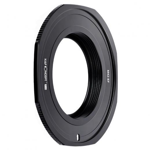 KF M10135  high-precision lens adapter ring, coated with matt paint, secondary oxidation orange, M42-EOS PRO