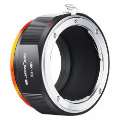 KF M11115 high-precision lens adapter ring, coated with matte paint, secondary oxidation orange, NIK-FX (AI-FX) PRO