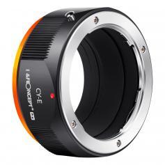 K&F M14105 C/Y-Nex Pro ,New in 2020 high precision lens adapter (orange)