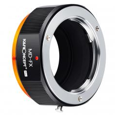 KF M15115  high-precision lens adapter ring, coated with matte paint, secondary oxidation orange, MD-FX PRO