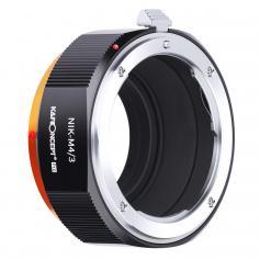 Nikon AI F Mount Lens to Micro Four Thirds (MFT, M4/3) Camera Adapter with Matting Varnish for Olympus Pen E-P1 P2 P3 P5 E-PL1 Panasonic Lumix GH1 2 3 4 5