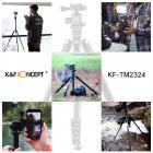 TM2324 Lightweight Travel Tripod for Canon Nikon DSLR Camera 62Inch Aluminum