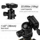 TM2515 Aluminum DSLR Camera Tripod 60 inch 5 Sections Ball Head Quick Release Plate