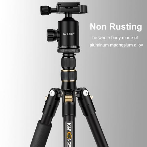 TM2515 Aluminum Tripod Monopod for DSLR Camera 60 inch 5 Sections