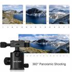 TM2534 DSLR Camera Tripod Monopod Kit Aluminum 64 inch 360 Degree Ball Head 10KG Load Capacity