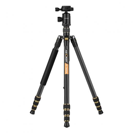 TC2534 Carbon Tripod Monopod Kit for DSLR Camera 66 inch Lightweight Professional fit Canon Nikon