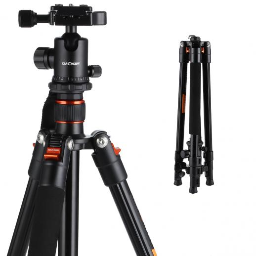 TM2324 (Orange) Aluminum Camera Tripod Lightweight 62 Inch for Canon Nikon Outdoor Travel Photography