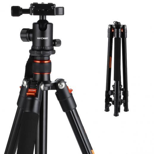 TM2324 (Laranja) Tripé de Câmera Alumínio Peso-leve 62Inch para Canon Nikon Fotografia
