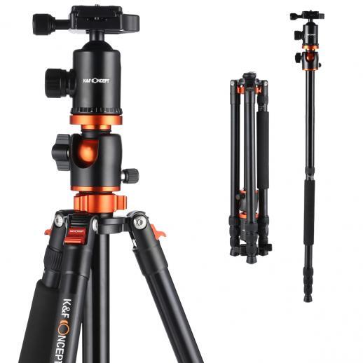 TM2534T(Laranja) Tripé de Câmera Alumínio 72Inch para Canon Nikon DSLR Fotografia