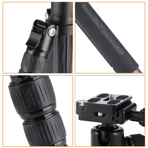 TC2235 Carbon Tripod Monopod Kit for DSLR Camera Ball Head 5 Sections