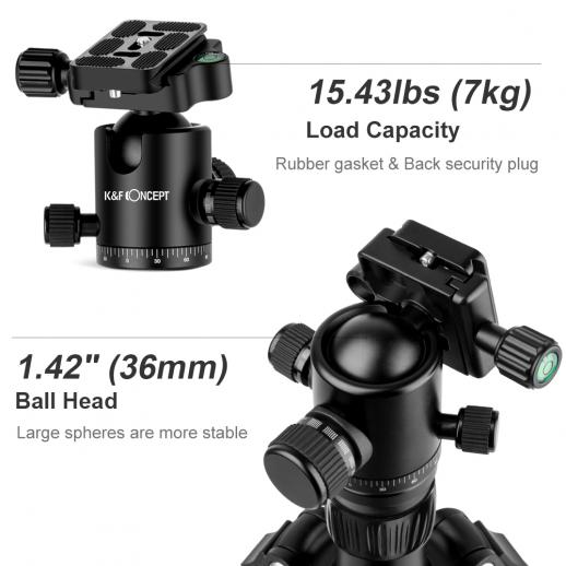 TC2834C Carbon Tripod Monopod Kit for DSLR Camera Ball Head 4 Sections
