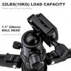 TM2324 II Foldable Lightweight Aluminum Tripod