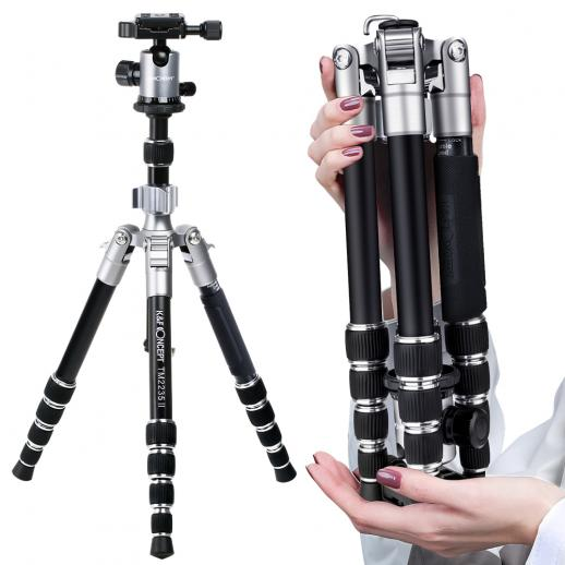 TM2235 II Lightweight DSLR Camera Aluminum Tripod With Ball Head Metal Quick Release Plate
