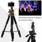 TM2624L Black Portable Compact Tripod 70inch for Video Camera Cellphone 3-Way Swivel Pan Tilt Head