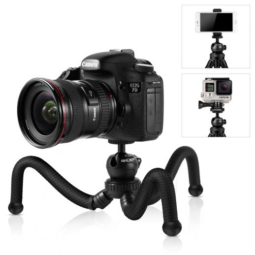 Tripod for iPhone, GoPro and Microphone with Bluetooth Control