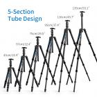 TC2335 (Blue) Carbon Tripod Lightweight Portable for Travel Photography