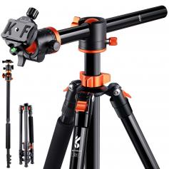 """Flexible Camera Tripod Processional Tripod Stand 72""""/1.83m 22lbs/10kg Load with Detachable Monopod for DSLR S211"""