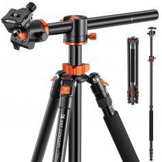 "SA254T1 Professional Camera Tripod Overhead Lightweight Travel Tripod 22lbs Load 94""/2.4m with Detachable Monopod for DSLR SLR"