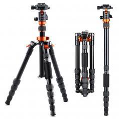 "Compact Camera Tripod Portable Flexible Aluminium Travel Tripod 51""/1.3m 17.64lbs Load with Portable Monopo for DSLR Cameras SA225M1"