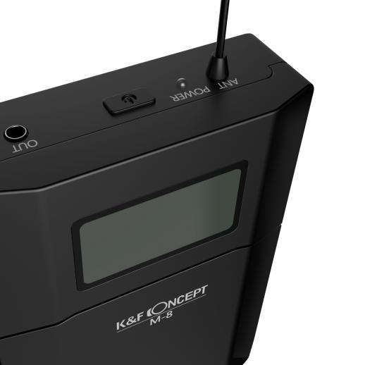 K/&F CONCEPT M-8 UHF Kam Lavalier Mikrofon Ansteckmikrofon Kabellos für DSLR E4T5