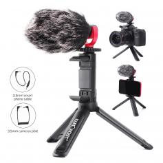 Camera Video Microphone Kit for YouTube, Vlog Windscreen 3.5mm for Phone and Camera