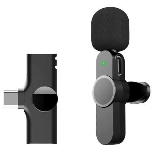 EP033 Mini Plug Play Microphone Wireless Lavalier Mic For Type-C Phones Laptop