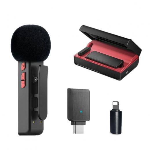 E300 2.4GHz Wireless Lavalier Microphone with Charging Case Plug&Play for Streaming - Type-C