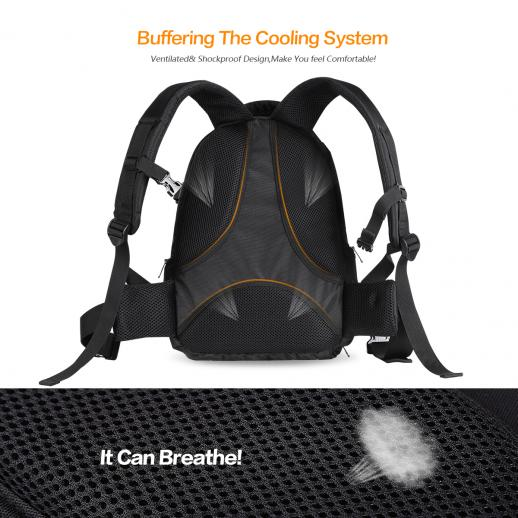 DSLR Camera Backpack 14.8*10.6*6.3 inches Waterproof with Rain Cover