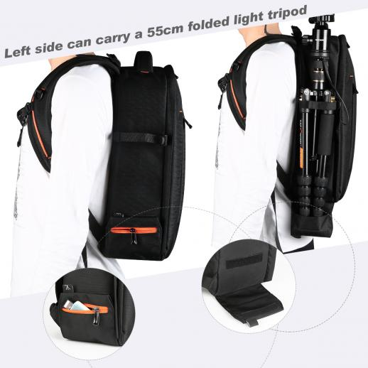 Large DSLR Camera Backpack for Travel Outdoor Photography 10.24*5.51*16.54 inches