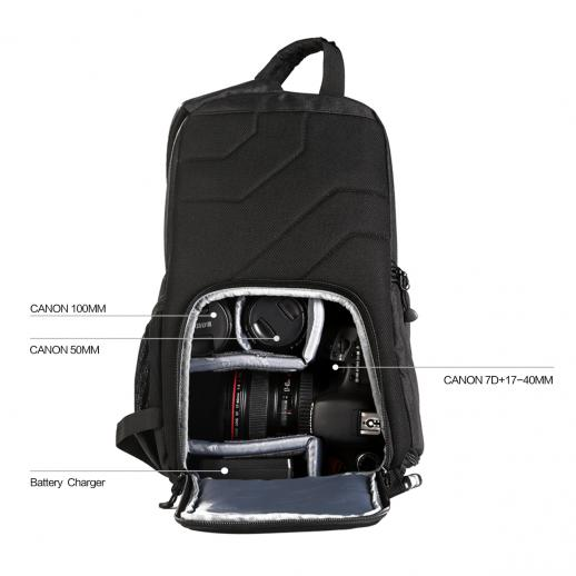 ... Sling Camera Bag Backpack for Travel Photography 9.06 5.51 14.57 inches  ...