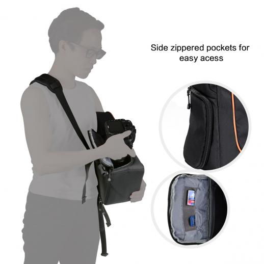 Sling Camera Bag Backpack for Travel Photography 9.06*5.51*14.57 inches