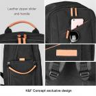 DSLR Camera Travel Backpack Black Multi-functional 11.8*7.1*16.3 inches