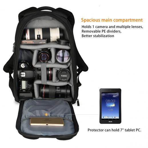 Outdoor Camera Backpack 11.4*7.1*17.0 inches