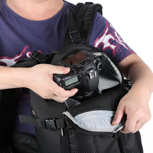 "Large DSLR Camera Backpack 16.9*11.8*7.9 inches fits 15.6"" Laptop"
