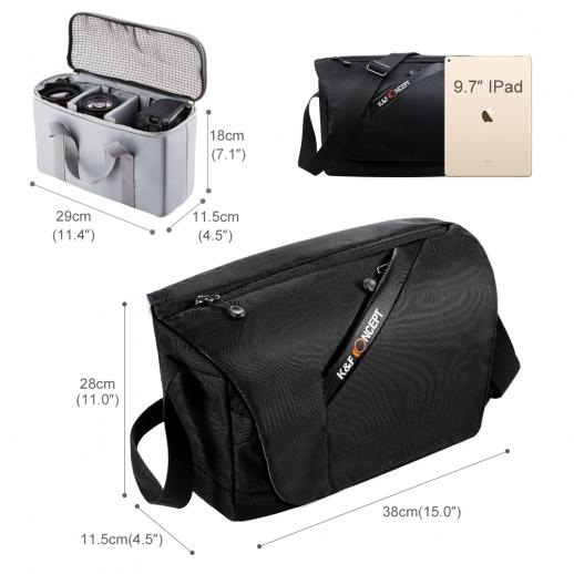 Bolsa de Ombro Compacta Mensageiro para Câmera DSLR 38 * 11.5 * 28cm