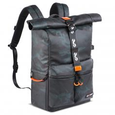 """K&F Concept Camera Backpack Waterproof Photography15"""" Laptop Compartment for SLR/DSLR Camera, Lens and Accessories with Rain Cover"""