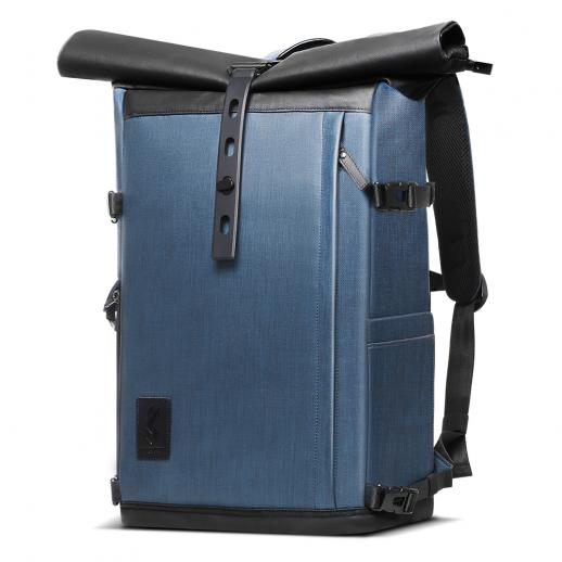 K&Fコンセプトカメラバックパック防水、15.6インチラップトップコンパートメント、大容量、SLR / DSLRカメラ用