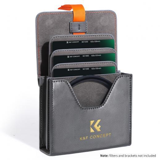 K&F Caixa de filtro de lente para redondo ou quadrado ND CPL 100x100mm - K&F Concept