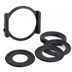 K&F TT100 Square Filter Metal Holder + 8pcs Adapter Rings For DSLR