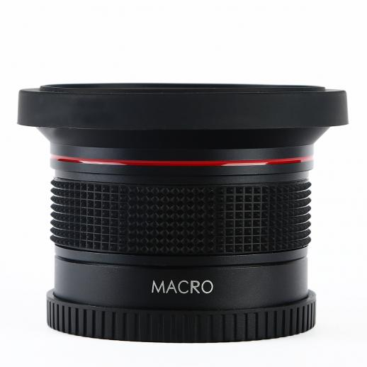 58mm Fisheye Lens 0.35X HD Wide Angle with Macro Close Up