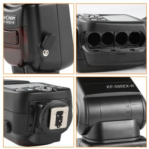 KF590N I-TTL Flash for Nikon GN56 Auto-Focus Wireless Slave