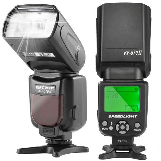 KF570 II Flash for Canon Nikon with Single-Contact Shoe Mount