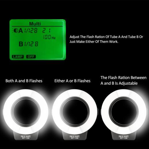 KF150 TTL Marco Ring Flash for Nikon GN14