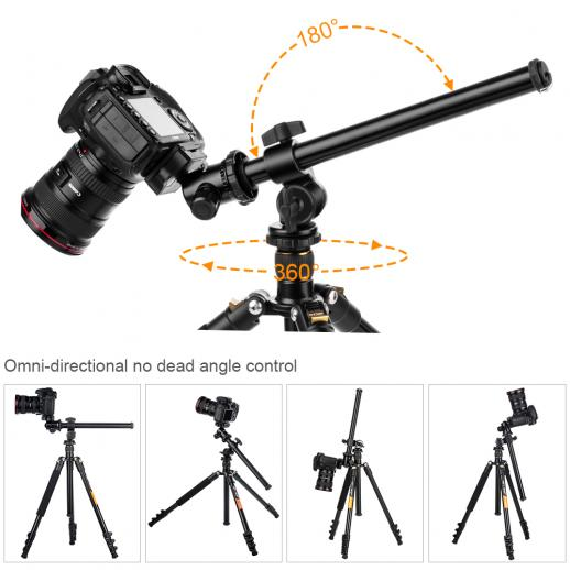 Rotatable Multi-Angle Center Column for Camera Tripod Magnesium Alloy & Locking System
