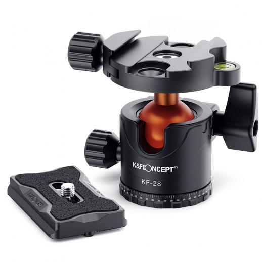 Professional Metal Tripod Ball Head 360 Degree Rotating Panoramic with 1/4 inch Quick Release Plate Bubble Level for Tripod Monopod Slider Camera Camcorder up to 22 pounds/10 kilograms