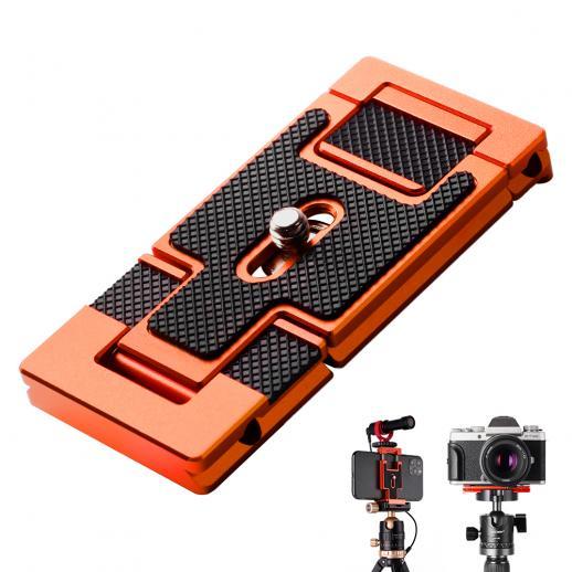 Sapata de tripé e suporte para smartphone (2 em 1) padrão ArcaSwiss