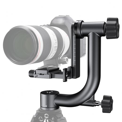Tripod Head 44lbs Load Professional Heavy Duty 360° Ball Head with 1/4'' Standard Quick Release Plate & Bubble Level